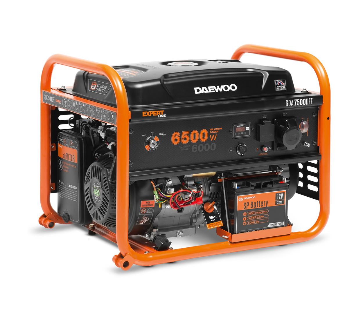 Бензиновый генератор (Бензогенератор) DAEWOO GDA 7500DFЕ